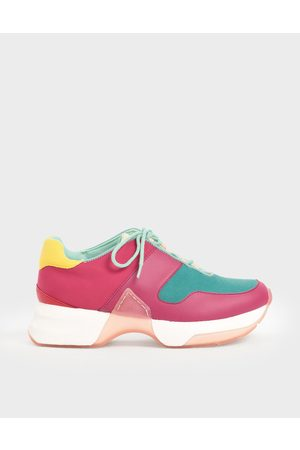CHARLES & KEITH Textured Lace-Up Sneakers