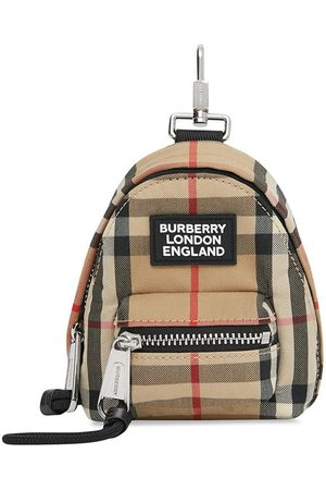Burberry Vintage Check backpack key charm - Neutrals