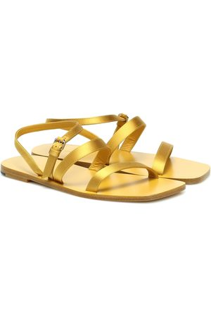 The Row Exclusive to Mytheresa – Wedge leather sandals