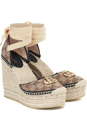Gucci GG canvas espadrille wedges