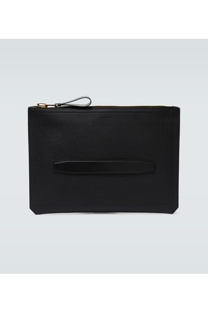Tom Ford Grained leather zipped portfolio