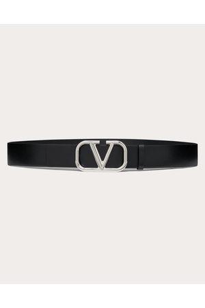 VALENTINO GARAVANI Men Belts - Vlogo Signature Calfskin Belt Man Calfskin 100% 100