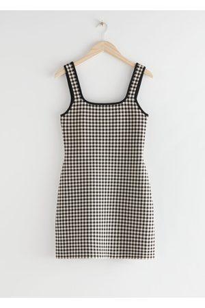 & OTHER STORIES Women Party Dresses - Scoop Neck Jacquard Mini Dress