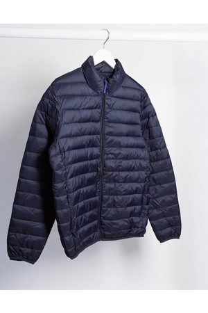 Selected Padded funnel neck jacket-Navy