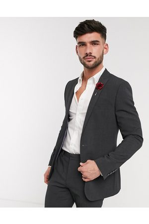 ASOS Wedding skinny suit jacket in charcoal four way stretch