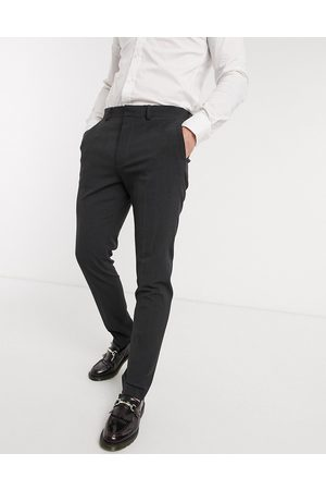 ASOS Wedding skinny suit pants in charcoal four way stretch