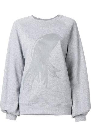 Ioana Ciolacu Oversized printed sweatshirt - Grey