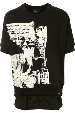 3.1 Phillip Lim Postcard print shirt tail sweathsitr