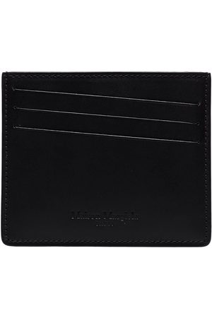 Maison Margiela Men Wallets - Four-stitch leather cardholder