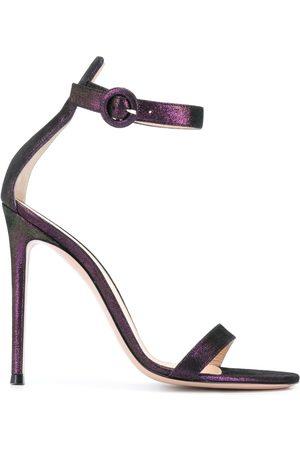 Gianvito Rossi Portofino 105mm metallic sandals