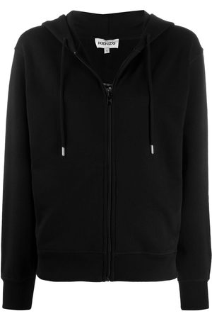 Kenzo Women Hoodies - Embroidered tiger zip-up hoodie
