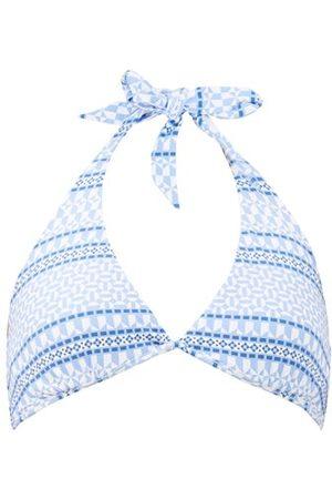 Heidi Klein Malta Halterneck Mosaic-print Bikini Top - Womens - Print