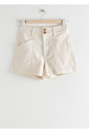 & OTHER STORIES Women Shorts - High Waisted Denim Shorts