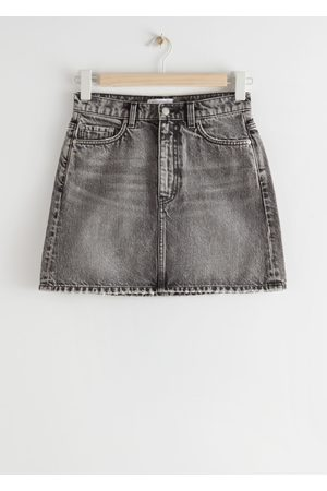 & OTHER STORIES Women Mini Skirts - Denim Mini Skirt - Grey
