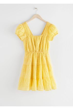 & OTHER STORIES Puff Sleeve Ruffle Mini Dress