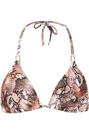 Melissa Odabash Cancun snake-print bikini top