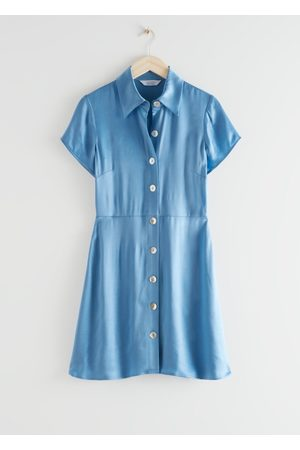 & OTHER STORIES Button Up Mini Shirt Dress