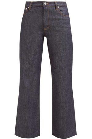 A.P.C Sailor Cropped Raw-denim Jeans - Womens - Indigo