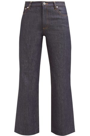 A.P.C. Women High Waisted - Sailor High-rise Cropped Jeans - Womens - Indigo