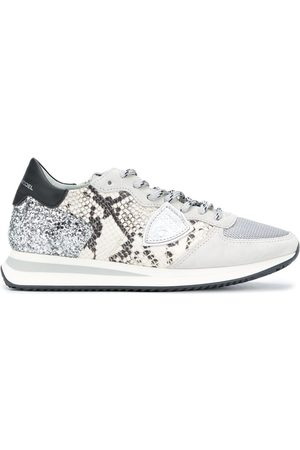 Philippe model Python-effect low-top sneakers - Grey