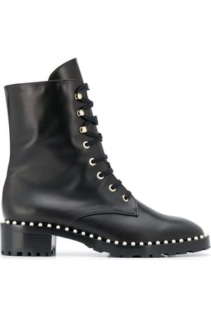 Stuart Weitzman Lace-up studded boots
