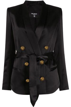 Balmain Double-breasted silk blazer
