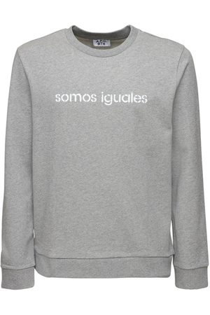 A.P.C Somos Iguales Print Cotton Sweatershirt