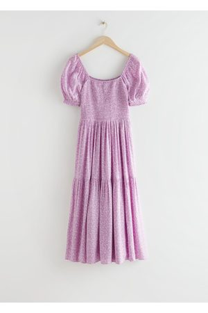 & OTHER STORIES Puff Sleeve Smock Maxi Dress