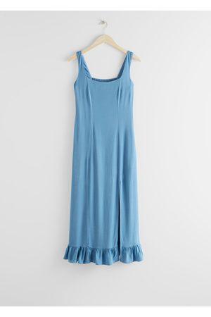 & OTHER STORIES Ruffle Hem Midi Dress
