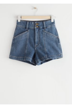 & OTHER STORIES High Waisted Denim Shorts