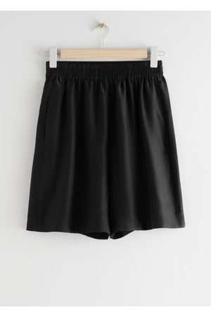 & OTHER STORIES Mulberry Silk Shorts
