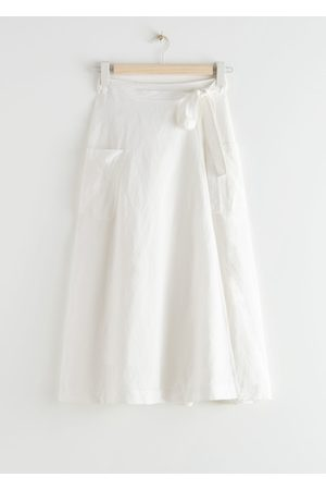 & OTHER STORIES Belted Linen Blend Midi Skirt