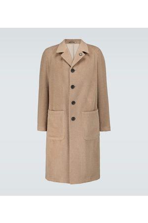 LARDINI Mohair-blend single-breasted coat