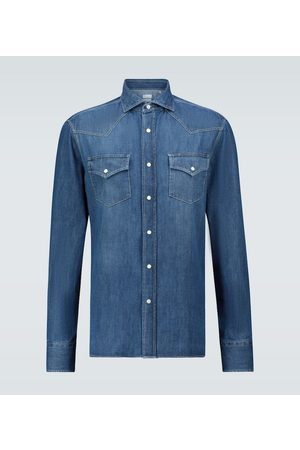 Brunello Cucinelli Leisure-fit denim shirt