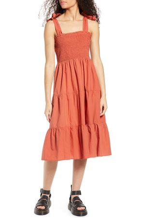 Only Women Summer Dresses - Women's Maggie Tie Strap Tiered Sundress