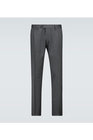 LARDINI Single-pleated wool-blend pants