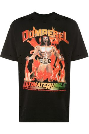 DOMREBEL Destroyed crystal Wrestler T-shirt