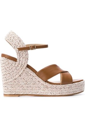 Jimmy Choo Dellena 100mm espadrille wedge sandals