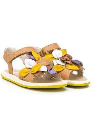 Camper Kids Bicho floral applique sandals - Neutrals