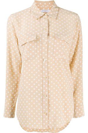 Equipment Polka-dot silk shirt - NEUTRALS