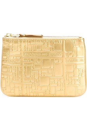 Comme des Garçons Embossed Logo' purse - Metallic