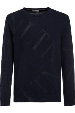 VALENTINO Intarsia Knit Wool & Cashmere Sweater