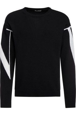VALENTINO Logo Intarsia Knit Cashmere Sweater