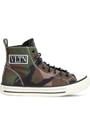 VALENTINO GARAVANI Logo Camo Canvas High Top Sneakers
