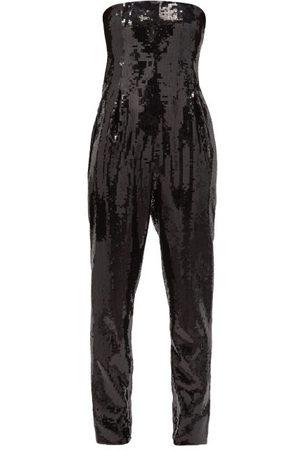 Saint Laurent Strapless Sequinned Bustier Jumpsuit - Womens