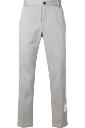 Thom Browne Unconstructed Cotton Twill Chino Trouser - Grey