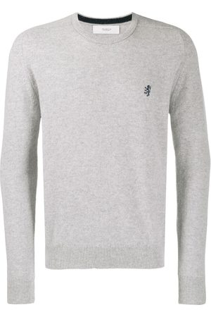 PRINGLE OF SCOTLAND Logo embroidered sweater - Grey