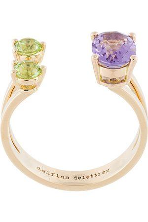 DELFINA DELETTREZ 3 Dots ring - Metallic