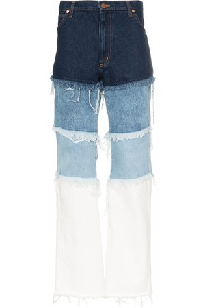 DUOltd Distressed patchwork jeans