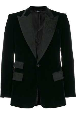 Dolce & Gabbana Jacquard panels single-breasted blazer